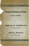 The Kent Law School of Chicago Annual Register, 1893-1894