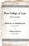 Kent College of Law Annual Register, 1895-1896