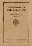 Sixty-Eighth Annual Announcement of the Chicago-Kent College of Law, 1955-1956