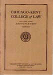Sixty-Ninth Annual Announcement of the Chicago-Kent College of Law, 1956-1957