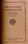 Seventy-Second Announcement of the Chicago-Kent College of Law, 1959-1960