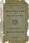Chicago College of Law and Kent College of Law Annual Announcement, 1900-1901, Vol. 1, No. 1