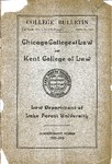 Chicago College of Law and Kent College of Law Annual Announcement, 1900-1901, Vol. 1, No. 2 (Supplement)