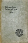 Twenty-First Annual Announcement of the Chicago-Kent College of Law, 1908-1909