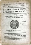 Quarterly Bulletin of the Chicago-Kent College of Law, Series II, No. 1 (Annual Announcement, 1905-1906) by IIT Chicago-Kent College of Law