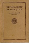 Forty-Ninth Annual Announcement of the Chicago-Kent College of Law, 1936-1937