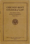 Fifty-Seventh Annual Announcement of the Chicago-Kent College of Law, 1944-1945 by IIT Chicago-Kent College of Law