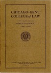 Fifty-Eighth Annual Announcement of the Chicago-Kent College of Law, 1945-1946