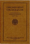 Fifty-Ninth Annual Announcement of the Chicago-Kent College of Law, 1946-1947