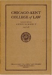 Sixtieth Annual Announcement of the Chicago-Kent College of Law, 1947-1948 by IIT Chicago-Kent College of Law