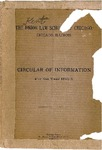 The Kent Law School of Chicago Circular of Information, 1892-1893