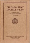 Seventieth Annual Announcement of the Chicago-Kent College of Law, 1957-1958