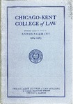 Seventy-Seventh Annual Announcement of the Chicago-Kent College of Law, 1964-1965