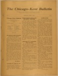 The Chicago-Kent Bulletin - Volume 1, Issue 1