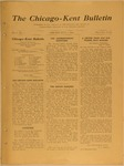 The Chicago-Kent Bulletin - Volume 1, Issue 2