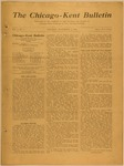 The Chicago-Kent Bulletin - Volume 1, Issue 5