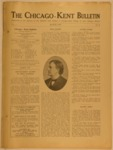 The Chicago-Kent Bulletin - Volume 1, Issue 9