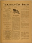 The Chicago-Kent Bulletin - Volume 1, Issue 10
