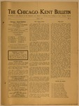 The Chicago-Kent Bulletin - Volume 2, Issue 1