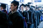 Pre-Ceremony - Line of Graduates
