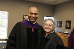 Pre-Ceremony - Galen Caldwell and Professor Steinman