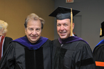 Pre-Ceremony - Professor Brill and Bruce Kohen