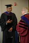 Pre-Ceremony - Kwame Raoul and Professor Eglit