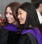 Pre-Ceremony - Two Graduates
