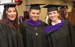 Pre-Ceremony - Three Graduates