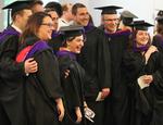 Pre-Ceremony - Group of Graduates Pose for Photo