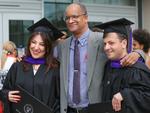 Reception - Graduates with Professor Brown