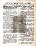 The Chicago-Kent News, Vol. 1, Issue 1, 1935