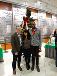 Holiday Fest 2014 - Students with Holiday Fest Tree