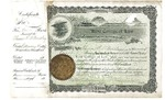 Kent College of Law Stock Certificate #3 - Thomas E.D. Bradley