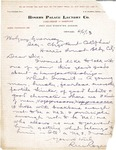 Letter to Guy Guernsey from R.M. Rogers, 1913 by R.M. Rogers