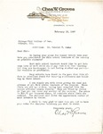 Letter to Dean Webster H. Burke from Chas. W. Groves, 1927 by Chas. W. Groves