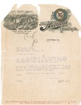 Letter to Secretary Guy Guernsey from W.H. Paulsen, 1915 by W.H. Paulsen
