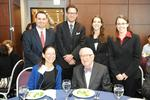 Justice Stevens, Professor Nancy Marder, Stevens Fellows